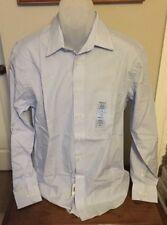 Chaps Blue/White Pinstripe Dress Shirt Size 15-1/2 -34-35 NWT