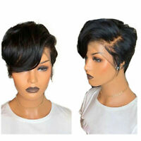 Brazilian Human Hair Pixie Cut 13X6 Lace Front Wigs Pre Plucked Baby Hair 6inch