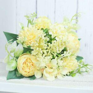 Artificial Flowers Rose Silk Peony Bride Bouquet Wedding Flower Home Accessories