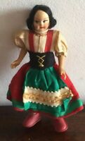 Lovely Small Vintage Cloth Doll With Stand