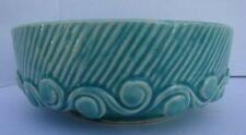 """McCoy Pottery, Aqua Blue Bowl 7"""" Diameter"""