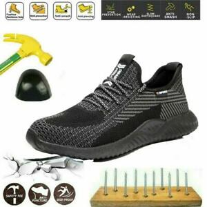 Mens Safety Shoes Work Trainers Women Steel Toe Cap Lightweight Hiking Boots