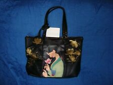 Disney Store Mulan holding a Flower Tote Bag Shoulder Purse NWT