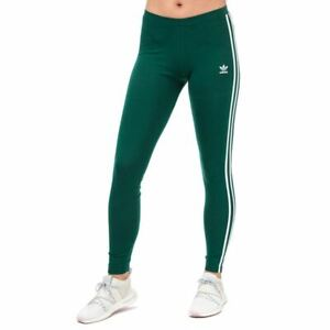 Women's adidas Originals 3-Stripes Mid Rise Soft Feel Leggings in Green