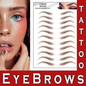 4D Eyebrows Tattoo Real Look Sticker False Waterproof Stick On Makeup Eyebrow