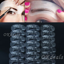 NEW 24 Styles Eyebrow Grooming Stencil Kit Template Make Up Shaping Shaper Tools