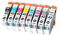 CLI 42 multipack full set 8 ink cartridges for Canon Pixma Pro 100 100S Non OEM