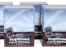 300 Rigid Card Topload Holders  PLUS 300 Card Sleeves - Hard Plastic Top Load