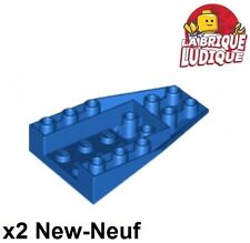 Lego - 2x Wedge 6x4 Triple Inverted coque boat hull bleu/blue 4856b NEUF