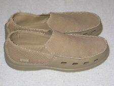 Canvas Khaki style Crocs Size 10M 10M New Without Box