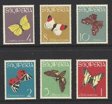 ALBANIA, # 691-696, MNH, BUTTERFLIES, INSECTS, NATURE