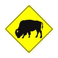 Buffalo Symbol Crossing Caution Animal Road Novelty Aluminum Metal Sign 12x12