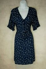 Blue Polka Dot Dress NEXT Size 6 Vintage Style