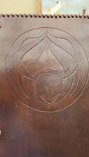 Art Nouveau Masonic Leather Purse Case Wallet