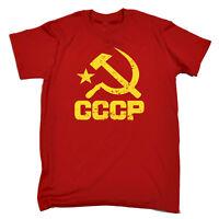 Funny Novelty T-Shirt Mens tee TShirt Cccp Yellow