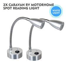 2x 12V LED Spot Reading Light Switch Camper Van Caravan VAN Boat Interior Light