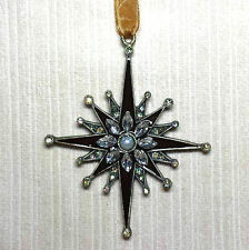DECO,STYLE METAL BROWN ENAMEL,JEWELLED STAR CHRISTMAS TREE DECORATION, BAUBLE