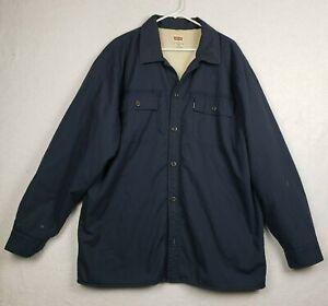 Levi's Blue Fleece Lined Shirt Jacket Mens Size XL Regular