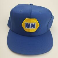 Vintage Napa Trucker Hat with Patch Louisville Mfg Made In USA blue snapback