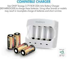 CR123 Arlo Netgear Battery charger kit, 4x Rechargeable batteries included
