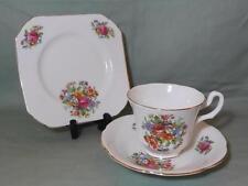 Vintage Royal Stuart Spencer Stevenson Bone China Trio Tea Cup Saucer & Plate