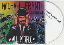MICHAEL FRANTI & SPEARHEAD I'm Alive 2014 UK 1-trk promo test CD
