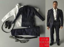 """1/6 Scale clothes new style fashion blue man suit gentleman fit 12"""" Beckham body"""