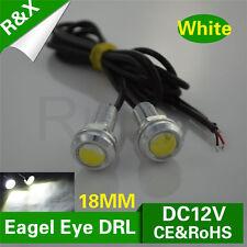 2X 18MM White 9W Daytime Running Eagle Eye Super bright LED light Silver Housing