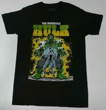 Mens Marvel The Incredible Hulk Black T-Shirt Size S M L XL