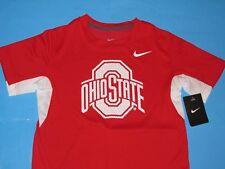 NIKE OHIO STATE BUCKEYES Vapor T-Shirt Youth Sz M Dri-Fit SIDELINE Red Boys NWT