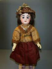 "Antique French Eden Bebe Doll 15"" Original Dress head crack as is"