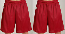 "2 PRS Men's XL Russell Athletic True Red 7"" Sports Gym Mesh Shorts 38-42 NWT"