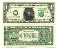 JOHNNY HALLYDAY VRAI BILLET de 1 DOLLAR US !!! COLLECTION Portrait Rock Français