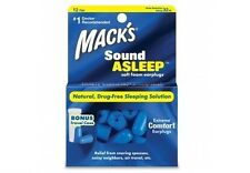 Macks MACK'S #2140 Noise Sleep SNORE Comfort Sound Asleep SOFT FOAM EARPLUG 12pr