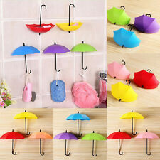 Umbrella Design Wall Hooks Key Hanger Sundries DIY Home Door Wall Storage Decor