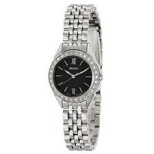 NEW Hot! New Seiko Women's Black Dial Swarovski Crystal Dress Watch SXGP25 Quart