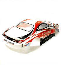 H003R 1/10 Scale Drift On Road Touring Car Body Cover Shell RC Red + Spoiler