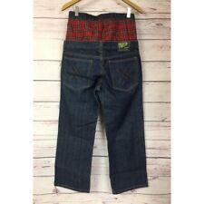 Trash Pants Limited Edition Sagging Jeans Men's 32x28 Plaid Boxer Streetwear EUC
