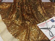 Dk Gold Rain Sequins with mesh dresses decorations curtain tablecloths Per yard.