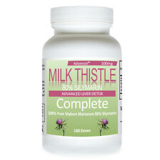 Milk Thistle 100mg Milk Thistle Liver Detox Diet 180 Dose 80% Silymarin Thisle