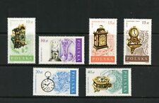 T620  Poland  1988   antique clocks  6v.    MNH