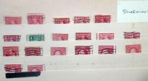 Buffalo Stamps:  Mini Schermack Singles Collection on a Stock Page