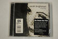 SARAH BRIGHTMAN ENCORE CD NEW SEALED 15 TRACKS 2001 SURRENDER DRILLED CASE