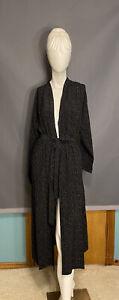 Eileen Fisher Morse Code Tencel Viscose Belted Kimono Jacket Size M MWT
