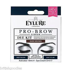 Eylure Dybrow DARK BROWN Dark Glossy Brows Eyebrow Dye Kit