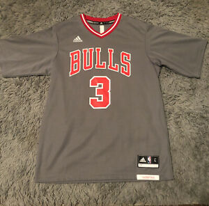 Adidas NBA Dwyane Wade Chicago bulls Rev30 Pride Gray Sleeved Authentic Jersey L