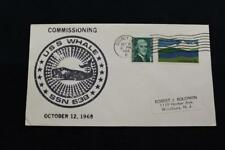 NAVAL COVER 1968 MACHINE CANCEL COMMISSIONING USS WHALE (SSN-638) (320)