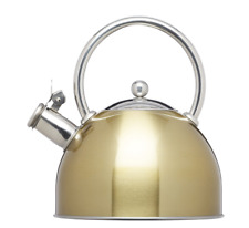 Kitchencraft Le'xpress Induction 1.8L Stovetop Whistling Kettle in Brass Finish