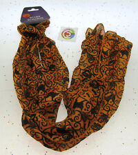Halloween Scarf ~ Pumpkin Cat Bat ~ Halloween Clothing Decoration