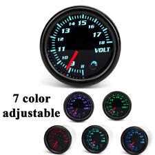 """7 Color Adjustable Volt Gauge Meter 8 - 18V Universal Car 2""""/52mm Diameter"""